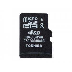 FLASH MICRO SD+ ADAPTADOR 4GB NEGRO